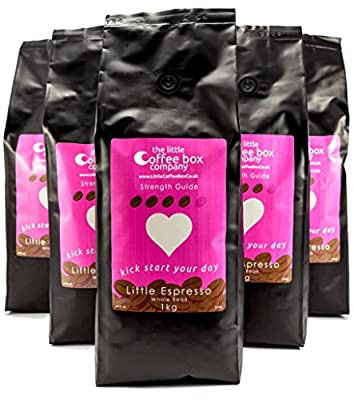 Little Box Espresso Coffee Beans 6X1kg - 100% Fresh Premium Dark Roast Beans