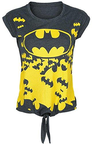 Batman Logo Maglia donna grigio sport L
