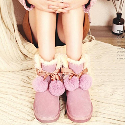 TT&XUEDIXUE Scarponi da neve caldi femminili / scarpe di velluto / pantaloncini in cotone per capelli autunno e inverno / nero / sabbia / crepuscolo sand color