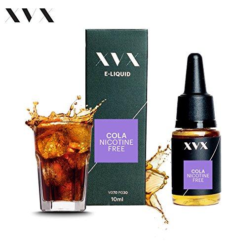XVX E-Liquid \ Cola Geschmack \ Elektronisches Liquid Für E-Zigarette \ Elektronische Shisha Liquid \ 10ml Flasche \ Nadelspitze \ Präzise Befllung \ Nikotinfrei - Menthol-sirup