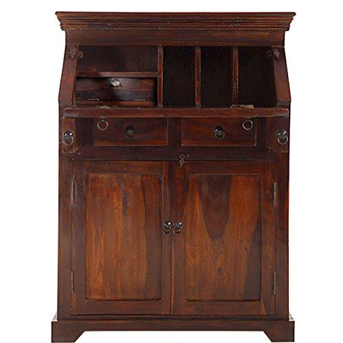 Butlers Hopkins Sekretär aus dunklem Sheesham-Holz - antiker Schreibtisch - Schubladen und abschließbares Geheimfach - 90 x 44 x 117 cm