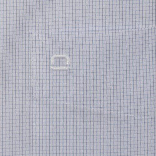 Olymp Hemd Luxor Modern Fit - blau-weiß, Gitterkaro, langarm, Button-Down Kragen Blau
