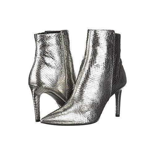 Michael Michael Kors Frauen Dorothy Flex Mid Bootie Spitzenschuhe Leder Fashion Stiefel Silber Groesse 6 US /37 EU Michael Kors Metallic-heels