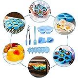 remote.S Morsi per Uova in Silicone Stampo Antiaderente Springform PanSteamer Cestello per Cottura Fresca
