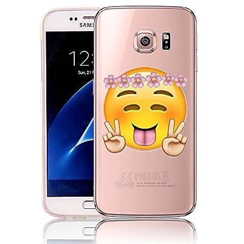 Vandot Samsung Galaxy S7 Edge Coque [Liquid Crystal] Coque Etui TPU Silicone [Extrêmement Mince Souple et Flexible] [Peau Transparente] [Shock-Absorption Bumper et Anti-Scratch Effacer Back] Housse Case