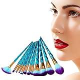 NEEDOON 12pcs Einhorn Makeup Pinsel Set Pulver Foundation Rouge Lidschatten Blending Kontour Pinsel