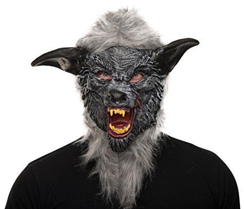 Halloweenmaske Wolf Vollmaske Karneval Werwolfmaske für Karneval / Fasching, Halloween und Motto Party´s (Werwolf Zähne Für Erwachsene)
