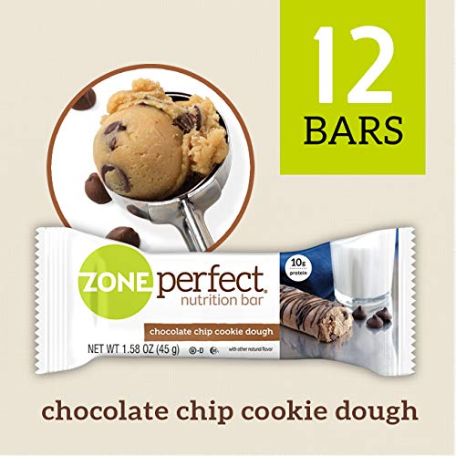 ZonePerfect Nutrition Bars, Chocolate Chip Cookie Dough, 1.58 oz, 12 Count by Zone Perfect