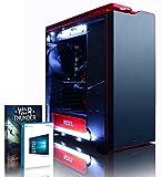 VIBOX Armageddon GS580-690 Gaming PC Computer mit Spiel Bundle, Windows 10 OS (4,0GHz Intel i3 Quad-Core Prozessor, MSI Nvidia GeForce GTX 1080 Grafikkarte, 32Go DDR4 RAM, 240GB SSD, 1TB HDD)