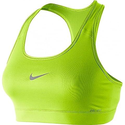 Nike Sport-BH Pro Bra - Sujetador para mujer, color verde lima, talla M