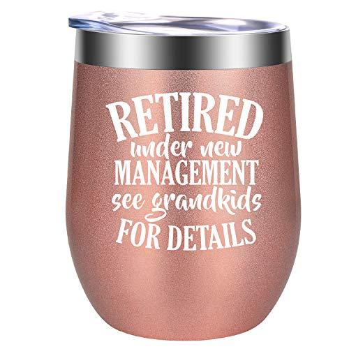 Pensions-Geschenk für Frauen, Geschenk zum Ruhestand für Oma, Lehrer, Kollegen. Beste Freundin, Frau, Mutter, Krankenschwester, Chef, GSPY, 340 ml rose gold (Lehrer Geschenke Ruhestand)
