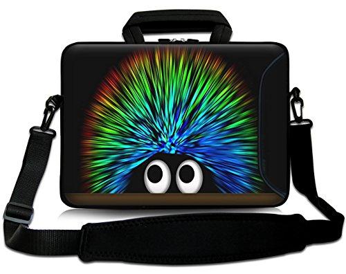 Sidorenko 17-17,3 Zoll Laptoptasche | Laptop Umhängetasche: Stilvolle Computer - Notebook-Schultertasche aus Neopren Schmutz- und Wasserabweisend | Notebook-Tasche mit Außentasche für Zubehör