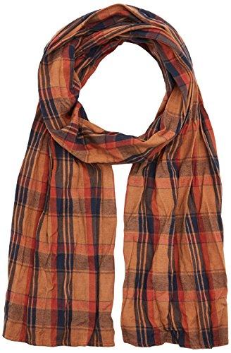camel active Herren 407290/6V29 Schal, Mehrfarbig (Orange/Blue 64), One Size