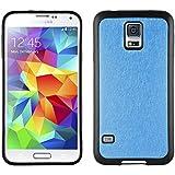 JAMMYLIZARD | Back Cover für [ Samsung Galaxy S5 & S5 Neo ] Glitzernde Hülle aus Silikon, BLAU