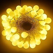 ZWOOS Guirnalda de Luces de Hadas Guirnalda Luminosa Interior 5M 40 LED para La Decoración de Navidad, Patio, Boda, Dormitorio, Fiesta de Cumpleaños- Blanco Cálido [Clase de Eficiencia Energética AA]