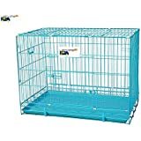 Lakhubhai Imported High Quality Double Door Foldable Metal Cage For Dogs ,Cats and Rabbits - Brand New (24 Inches)