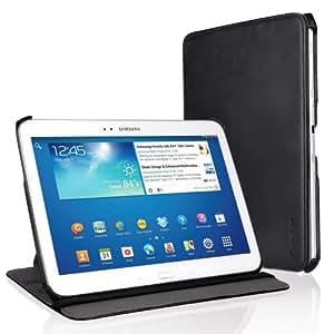 """EasyAcc Schutzhülle für Samsung Galaxy Tab 3 10.1 hülle Leder Case Flip Case Book Cover für Samsung Galaxy Tab 3 10.1"""" P5200/P5210 Ledertasche mit Standfunktion / Auto Sleep - (Schwarz, Kunstleder)"""