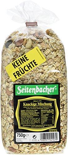 Seitenbacher Müsli Knackige-Mischung, 3er Pack (3x 750 g Packung) - Vollkorn Erdbeere