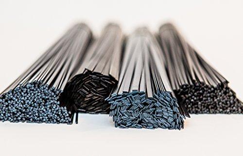 Plástico de arranque + de malla refuerza de soldadura mezcla de ABS, PP, polietileno, lowenergysupermarket/PP, negro, unidades 20 piezas