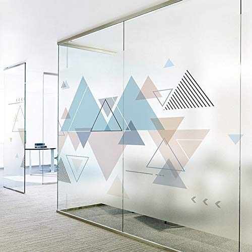KUNHAN Fensterfolie Färben Sie Kreative Geometrische Büroglastür- Und -Fensteraufkleber Elektrostatische Bewegliche Tür Der Dekorativen Trennwand