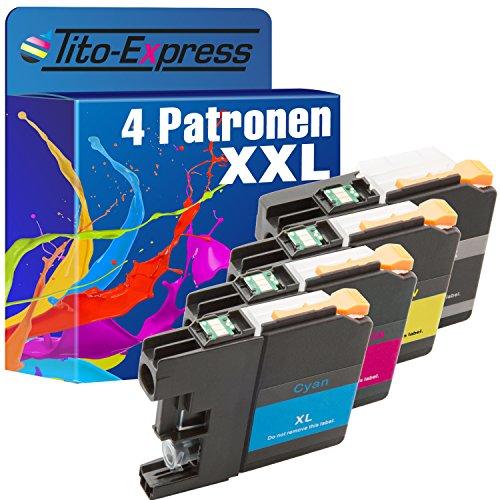 Preisvergleich Produktbild PlatinumSerie® 4 Druckerpatronen XXL kompatibel für Brother LC223 LC225 LC227 MFC-J 480 DW DCP-J 562 DW MFC-J 680 DW MFC-J 880 DW MFC-J 1100 Series MFC-J 1140 W