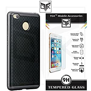 TheGiftKart™ Combo For Motorola Moto G PLUS 4th Gen (Combo of 1 Original iPaky Cover + 1 HD Tempered Glass) - Original iPaky Luxury High Quality Ultra-Thin Silicon Inner Black Back + PC Frame Bumper Back Case Cover (Graphite Grey) + TheGiftKart™ Premium HD Tempered Glass Screen Protector With Rounded Edges (Not Compatible With Motorola Moto G 4th Gen)