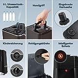 Luftbefeuchter Ultraschall Humidifier TaoTronics 6L Befeuchter bis 60㎡ Warm und Kalt mit 360° Düse Außen Feuchtigkeitssensor, LED-Anzeige, Eingebaute Kartusche, Niederer Wasserstand-Schutz, Nachtmodus - 4