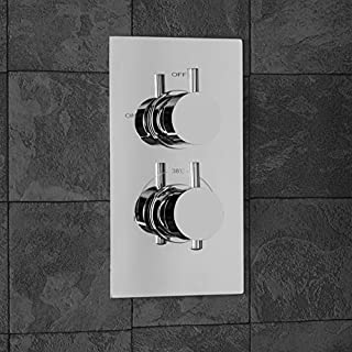 Architeckt Modern Concealed Shower Valve Thermostatic Single Outlet Chrome Dual Control