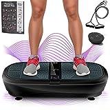 Sportstech Plateforme oscillante et vibrante VP300 Technologie de Vibrations à Bascule 3D, Bluetooth A2DP, Haut-parleurs Musique, INCL. télécommande et Bandes élastiques d'entraînement (Noir)