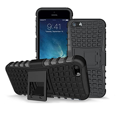 mobilepro-apple-iphone-5-5s-se-case-black-heavy-duty-shockproof-defender-cover-includes-a-clear-scre
