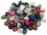 Edelstein Trommelsteine im Mix, 1 kg, medium 2-3 cm, 90 bis 120 Steine - Trommelstein Mix Glücksmischung Glücksstein