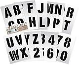 Plantillas del Alfabeto - 10 cm de altura - Numeros & Numeros 0-9, Capitales mordernas - en 9 hojas de 295 x 290mm