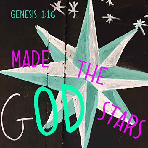 BIBLE QUOTES BELFAST Bibel-Zitat Bibelvers, englischsprachiger Text God Made The Stars Genesse, Maßstab 1:16, Wandkunst Geschenk Gott Jesus Christus