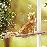 Hamaca de perca para gato, de Tpocean, para instalación en ventana, con cojín, 55 x 35 cm