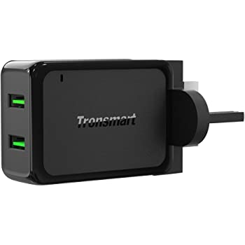Tronsmart Quick Charge 3.0 Fast Charger 36W Dual USB Wall Charger for Samsung Galaxy S8 Plus/S7/S6/Edge/Plus, Google Pixel, Note 4/5, LG G6, Sony Xperia XZ, Nexus 6, iPhone, iPad and More
