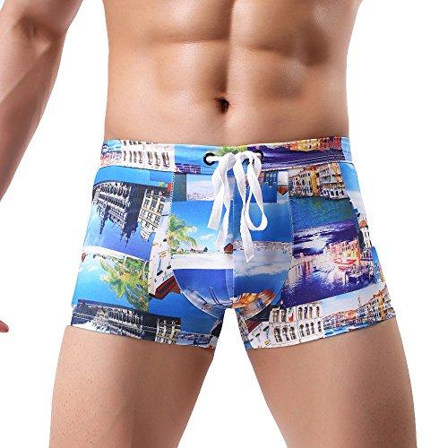 Preisvergleich Produktbild Herren Druck Badehose Beachwear Unterwäsche Surf Boardshorts Malloom®