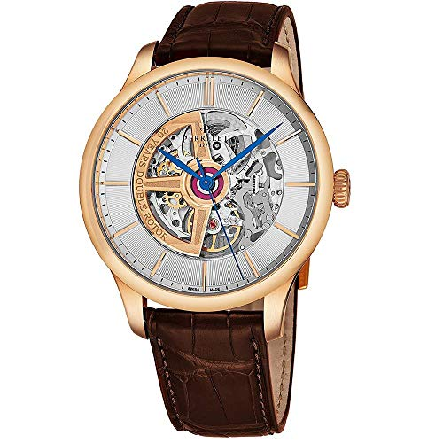 Perrelet Men's 42mm Brown Alligator Leather Band Automatic Watch A3050-1
