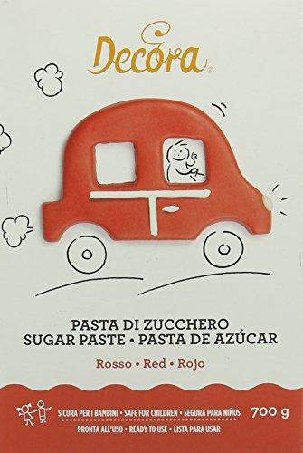 Decora Pasta di Zucchero, Rosso - 700 g