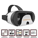 """Mogaman® K1 - Casque de réalité virtuelle pour smartphones Android et iOS (écrans de 4,7"""" à 6,0"""" inclus) Champ de vision Extra Large 96° - Masque 3D VR Side-By-Side (SBS)"""