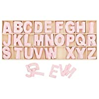Kleenes Traumhandel Wooden box of Letters pink - 5.4 cm high - 4 wooden letters each - 104 pieces