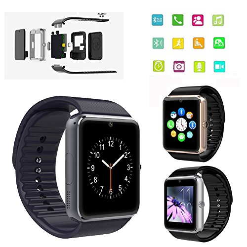 ShopAIS GT08 Bluetooth 3.0 Smart Watch with Camera SIM for ...