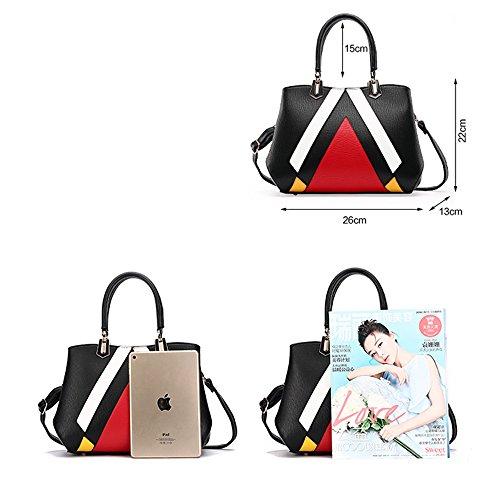ANNE Sacchetti di spalla delle borse delle cuciture di modo delle donne Pink