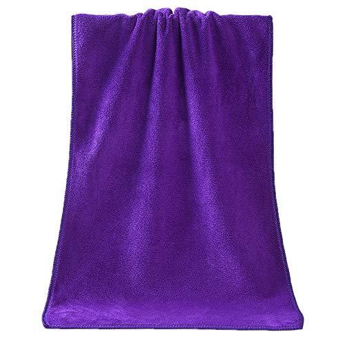 FiedFikt Badetuch aus saugfähiger Faser, schnelltrocknend violett