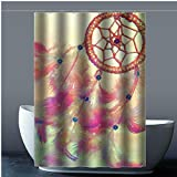 Brauch Dreamcatcher 100% Polyester Fabrik Duschvorhang Shower Curtain 152 Zentimeters x 183 Zentimeters