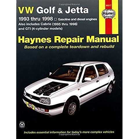 Vw Golf & Jetta Automotive Repair Manual: 1993-1998
