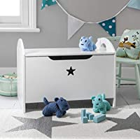 Noa and Nani - Zeta Toy Box | Toy Storage Organiser with Star Design - (White)