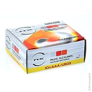 NX - Pile alcaline LR03 AAA NX Boite 10 1.5V 1.46Ah - Boîte(s) de 10