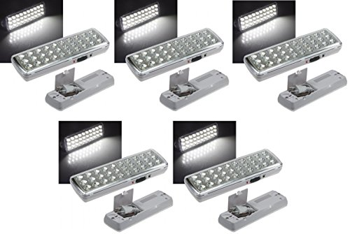 5 er Set LED Akku Notleuchte Notbeleuchtung Sicherheitsleuchte mit 30 LED's 21505 -