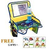 ECOOLBUY Multifunktions-Autositz für Kinder, tragbar, für Spiel- und Essensablage, Kinderwagen, verstellbar,