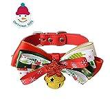 Pet Weihnachtszeit Designer - Hundehalsband mit Glocke, Hund, Katze nweihnachts Fliege (S) - PUPOUSE
